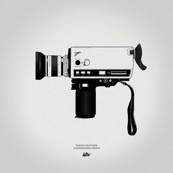 Silence Television S New Icons Series Dkng In 2020 Camera Illustration Camera Drawing Camera Tattoo