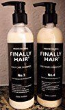 Finally Hair Brazilian Sulfate Free Shampoo & Conditioner For Use On Treated Hair (Perfect after Keratin Straightenting Smoothing Treatments and Perms)