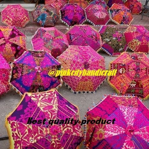 5 pc Indian WHOELESALE LOT TRADITIONAL UMBRELLAS INDIAN PARASOL RAJASTHANI DECOR #Unbranded #CompactFolding