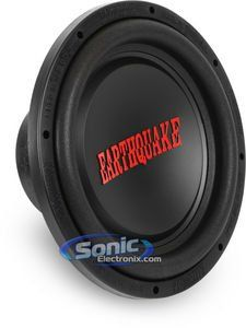 Earthquake Sound Tremor-X124 12-inch Car Subwoofer, 1250 Watts. 12-inch car audio Subwoofer. 1000-Watt Max with a 4-ohm Voice Coil. Spring-loaded terminals. Anti-wobble cone construction. TCT Technology (Turbine Cooled Transducer) for high efficiency output.