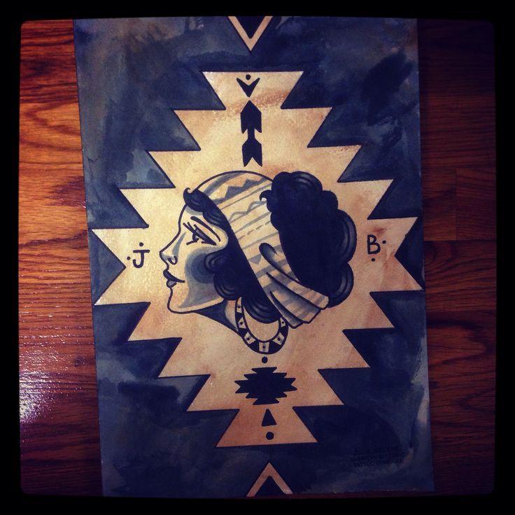 Julie bolene gypsy tattoo native tattoo navajo tattoo indian tattoo