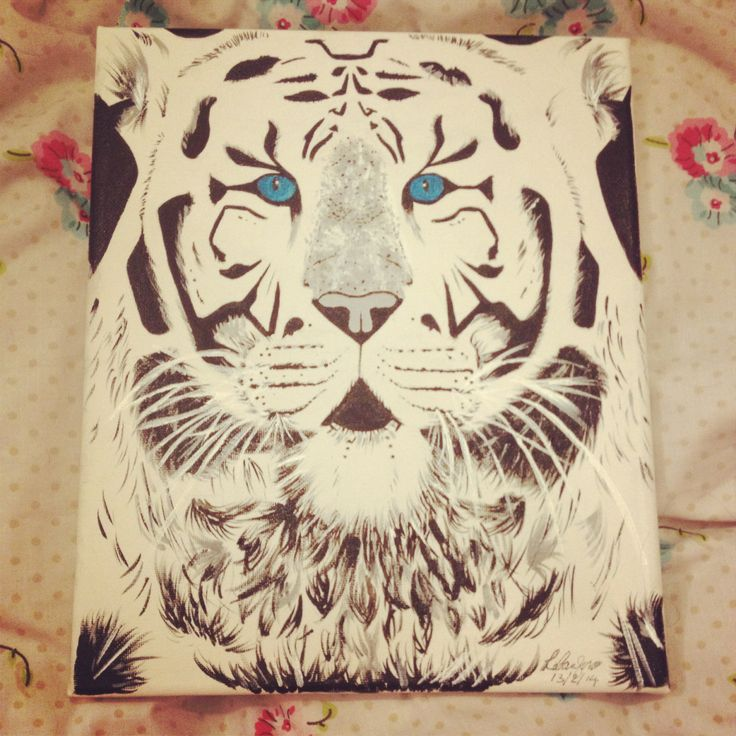 My tiger painting #tiger #art #painting