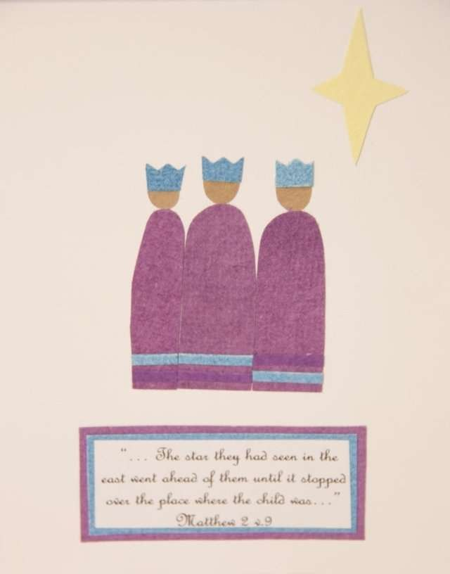 Fair Trade Three Kings Christmas Card Rwanda