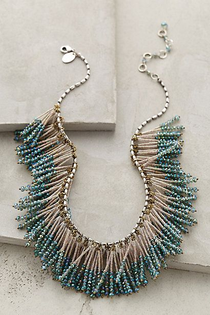Shimmering Beaded Statement #Necklace -