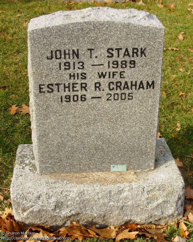 ON: Gore / Clanbrassil / Dufferin Cemetery (John T. STARK), CanadaGenWeb's…