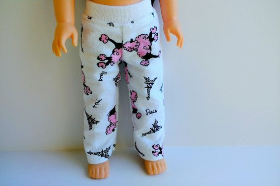 Poodle print pajama pants and pink cami top with by HannahsDressUp