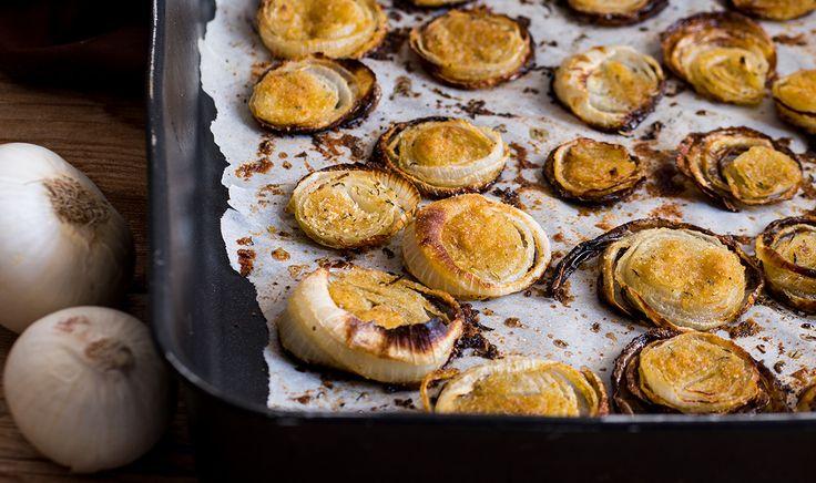 Cipolle gratinate al forno con pangrattato