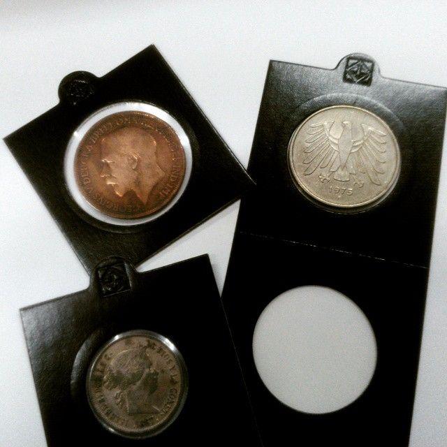 Probando los nuevos cartones Matrix de la marca Leuchtturm, perfectos para colocar tu colección de monedas del mundo, euros, pesetas, ...