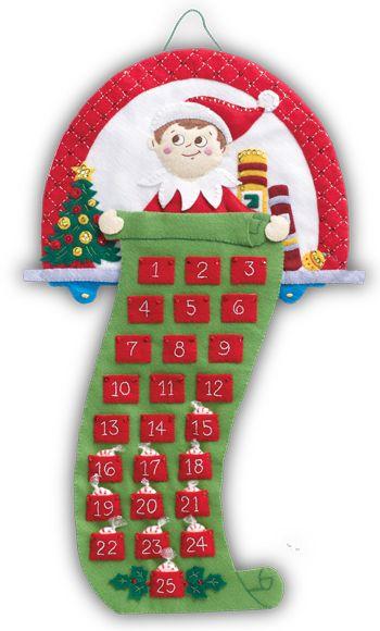 Elf on the Shelf Bucilla Advent Calendar Kit