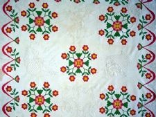"1840 - 1860 ""Rose of Sharon"" Applique Quilt"