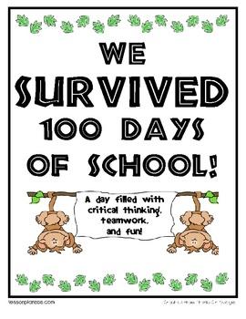 100 th day of school- TPT storeMath, Survivor Style, 100Th Day 3 00, Schools Ideas, Education Teaching, Fun, Education Holiday, Schools 100Th, Classroom Ideas