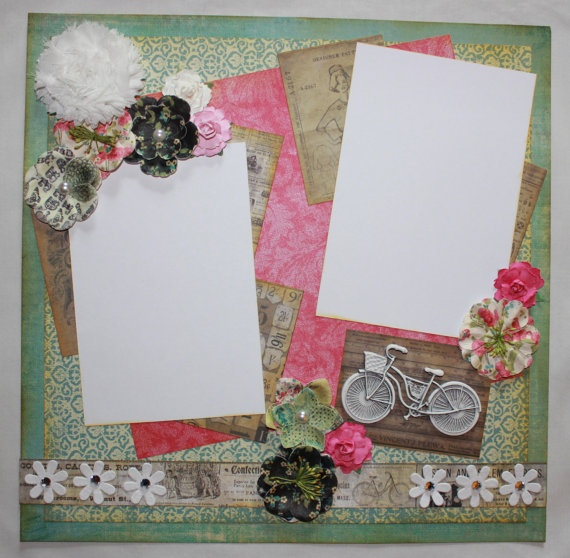 1 page 12 x 12 Layout Shabby Chic in by SweetConceptDesigns, $16.00: Shabby Chic, Layout Shabby, Etsy Beautiful, 12 Layout, Etsy Beauties