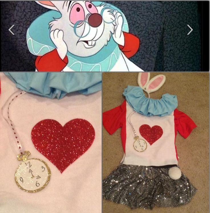 Love the rabbit costume - alice in wonderland - racing