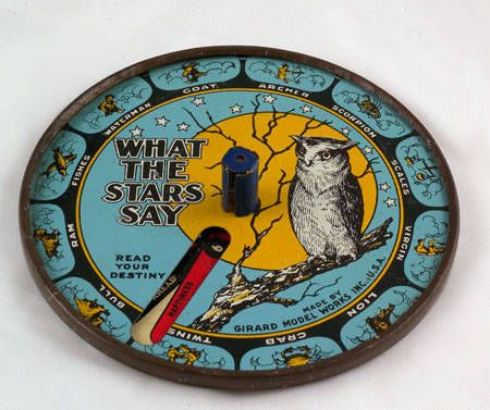 What the Stars Say metal fortune telling game, 1919-1922