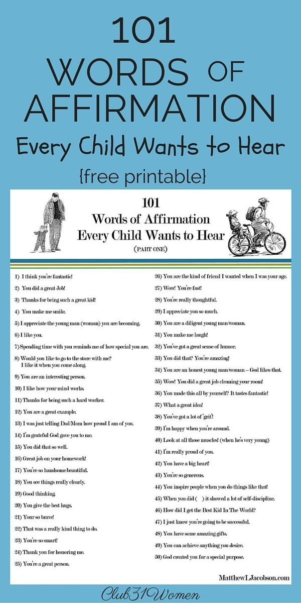 101 Words of Affirmation Every Child Wants to Hear