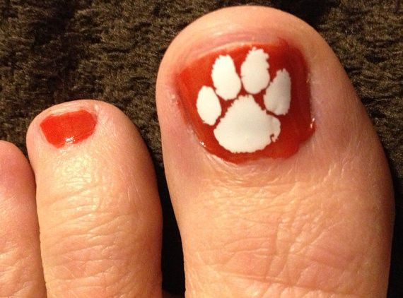 Pedicure Tiger Paw Decals - Clemson Tiger - Spring is here!! *SALE*