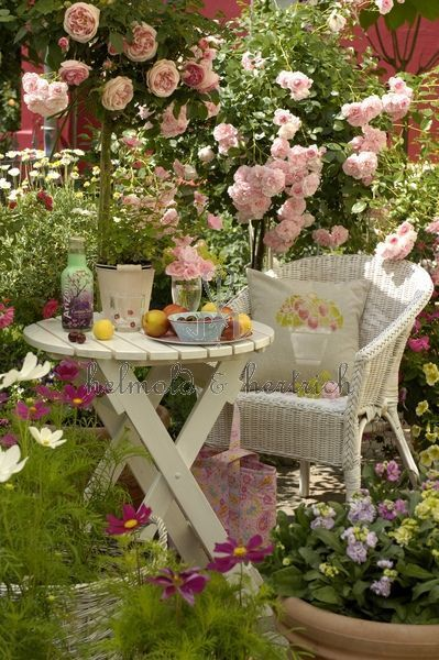 Make an outside room for yourself. Doesn't have to be expensive or fancy. A comfortable chair, a small table for your favorite treat. Lemonade anyone?