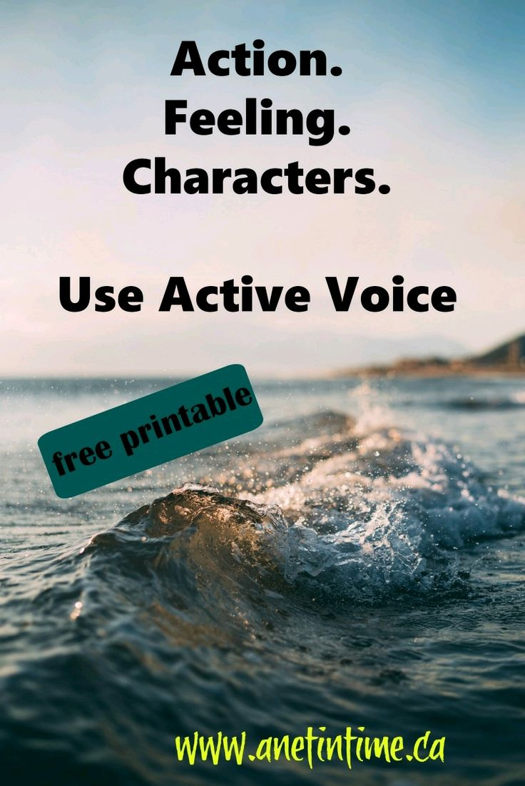 Become a better writer.  Use active verbs. Movement,  feeling, better character development. Includes a printable to practice this skill.  https://anetintime.ca/use-strong-verbs/?utm_content=buffere04aa&utm_medium=social&utm_source=pinterest.com&utm_campaign=buffer