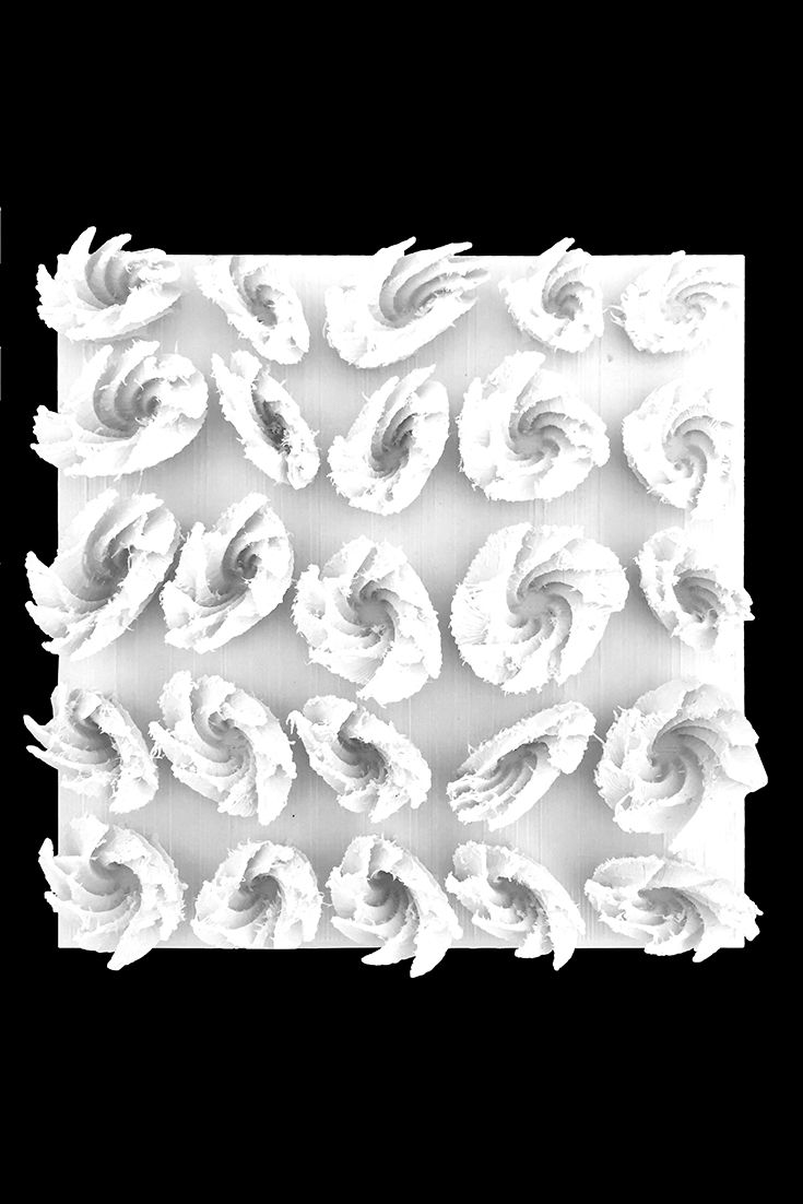 Utilizing their knowledge, students designed 18 tessellated tiles with various geometric shapes with sharp edges, lobed waves, rough surfaces, and organic formations. With the help of ZMorph multitool 3D printers they were able to manufacture their bold ideas into reality. Each tile took an average of nine hours to print with 1.75 mm plastic extruder and white ABS. #3Dprinting #ideas #design