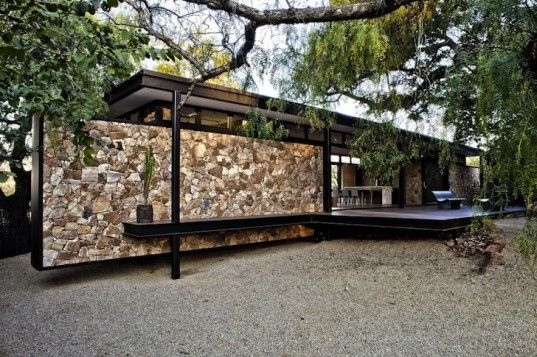 Gorgeous Prefab Westcliff Pavilion Home Boasts a Floating Stone Wall in South Africa   Inhabitat - Sustainable Design Innovation, Eco Architecture, Green Building