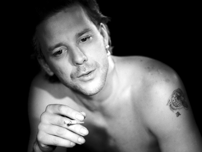 D7331 Mickey Rourke Smoking Young Actor Hot BW 32x24 Print ...
