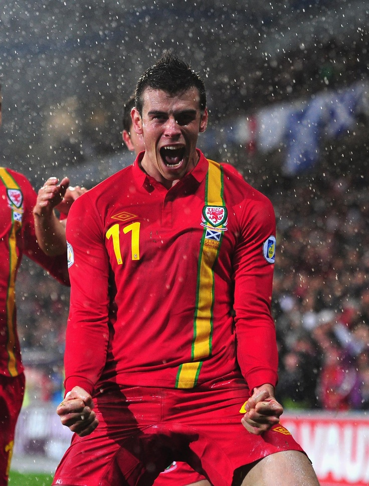 GARETH BALE plays and scores regularly for Wales and looks like he enjoys it!