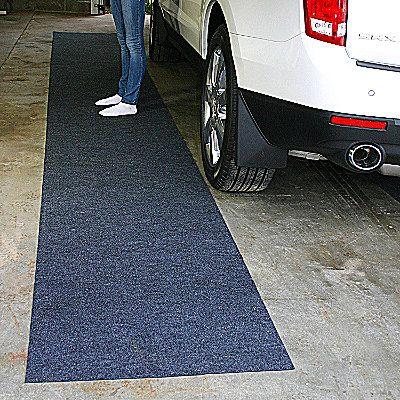 Drymate Garage Floor Runner - stop tracking in mud and dirt - make your garage complete with a Chamberlain Garage Door Opener www.Chamberlain.com