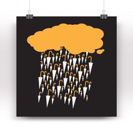 Piovonombrelli Print, Black