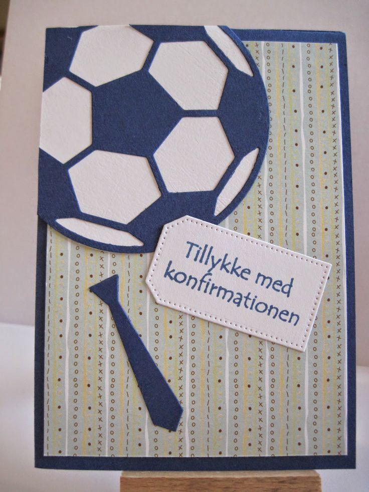 Leneshobby Konfirmationskort til dreng