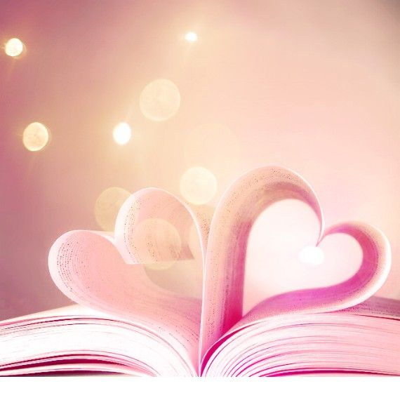 Two of my favorite things: books and hearts!