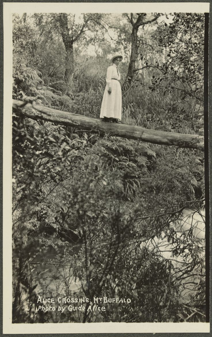 Alice Manfield photographer, crossing Mt Buffalo...possibly Alice.
