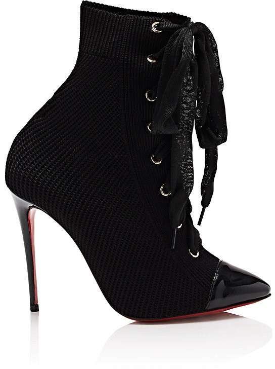 timeless design 9aa6a ff707 Christian Louboutin Women's Frenchie Knit Ankle Boots ...