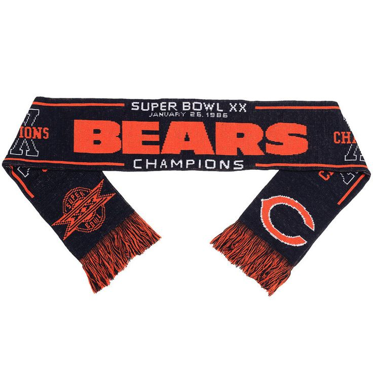 Chicago Bears Super Bowl XX Champion Commemorative Acrylic Scarf