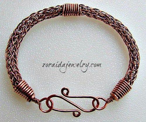 Viking Knit Copper Bracelet | zoraida - Jewelry on ArtFire