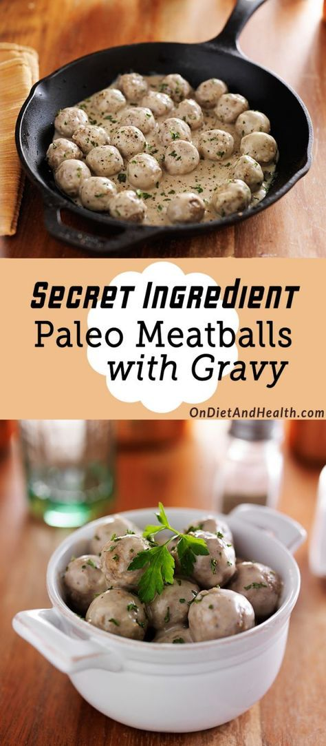 Secret Ingredient Paleo Meatballs with Gravy are meatballs with a surprise. Actually, they have two surprises as I use cauliflower instead of bread crumbs, AND it's got a little liver in there. No one will suspect there is liver in these savory paleo Paleo Meatballs!