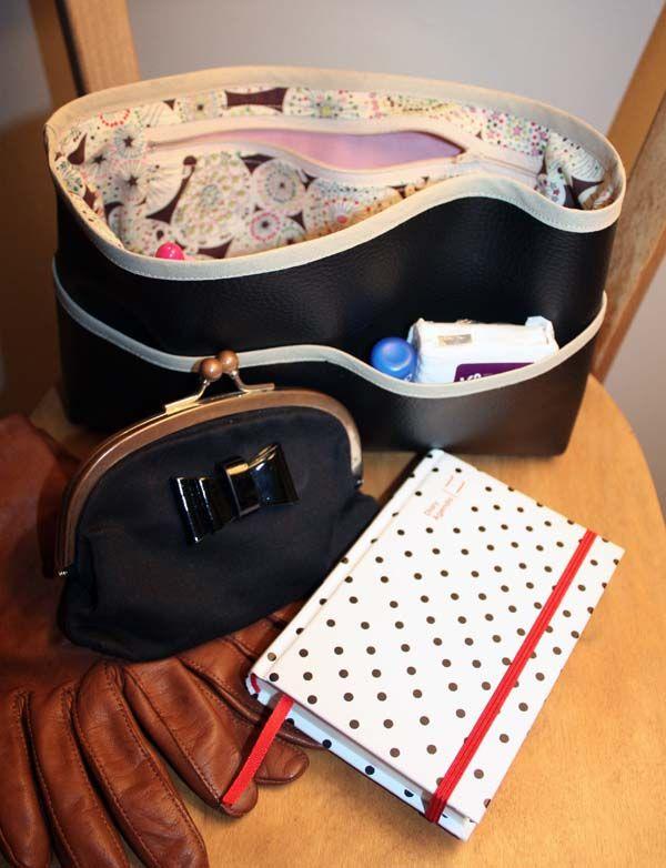Le tuto de mon organisateur de sac sewing patterns bags - Tuto organisateur de sac ...
