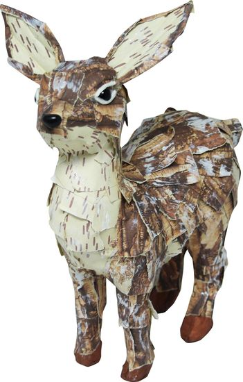 Bring the outside indoors with the rustic Noel Deer.