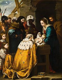 Epiphany (holiday) - Wikipedia, the free encyclopedia -In the Church of England, the eve of the feast used to be celebrated as Twelfth Night.  -  Adoration of the Magi by Bartolomé Esteban Murillo, 17th century (Toledo Museum of Art, Ohio.