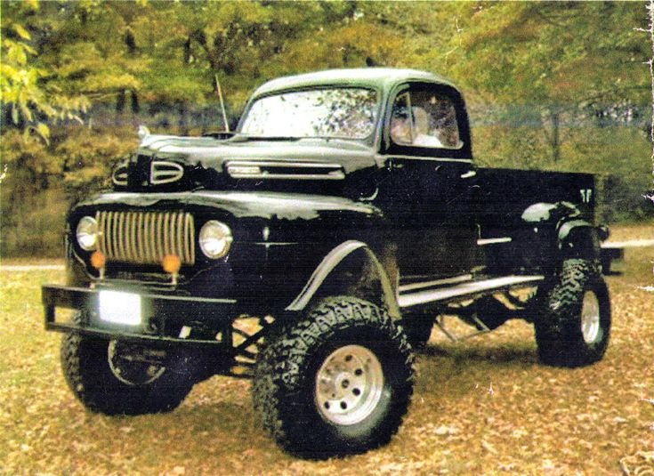 "1950 Ford 4 X 4 Pick-Up. Not a Dodge but I sure do think this is one ""BAD @#!*% TRUCK!"""