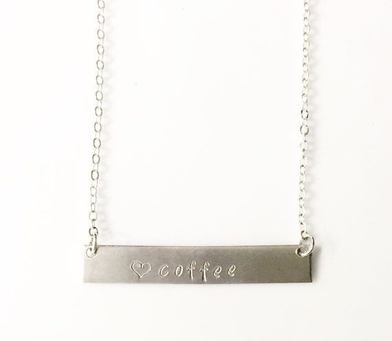 Coffee Lovers Necklace Coffee Lovers Gift by ForgetMeNotJewls