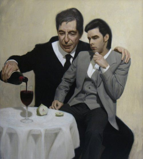 """""""The Influence (Leonard Cohen consoles Nick Cave)"""" by Ben Smith  All I can think of is when I took Chris to a Leonard Cohen concert and he said he could deal with it because he just pretended it was Nick Cave. *sigh*"""