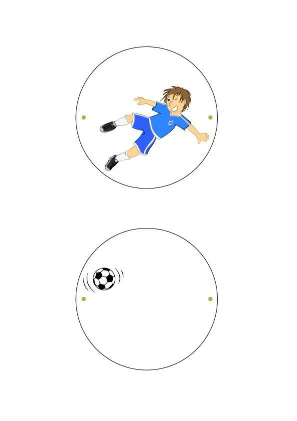 Manualidad infantil : El taumatropo de fútbol