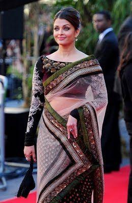 Indian Celebrity Saree Trends: Aishwarya Rai In Manish Malhotra Saree 2012