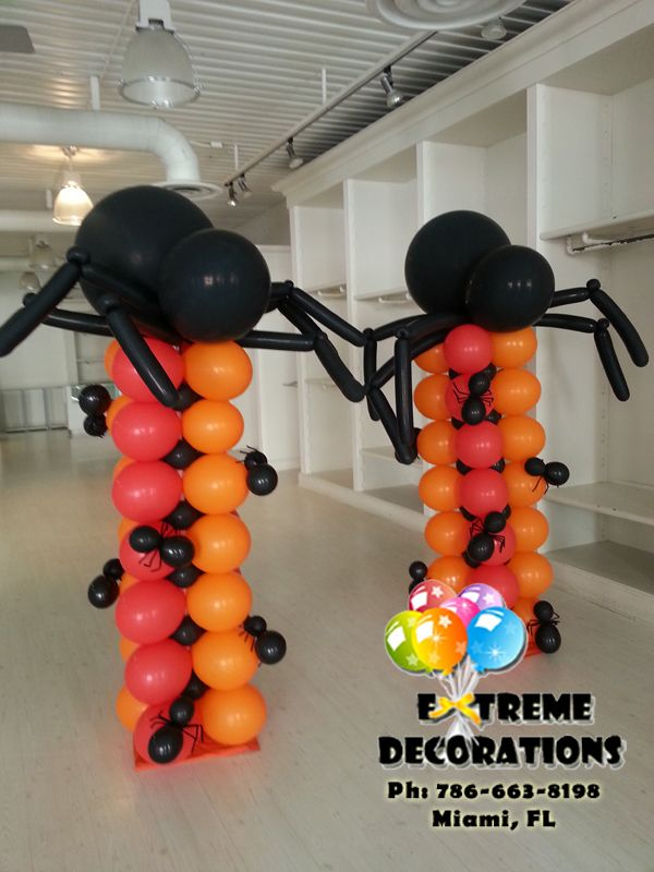 The 25 best spider balloon decoration ideas on pinterest for Balloon decoration for halloween