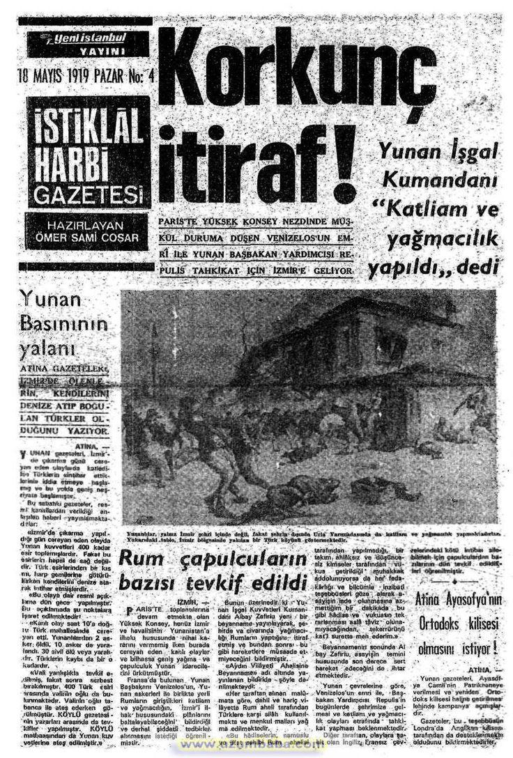 istiklal harbi gazetesi 18 mayıs 1919