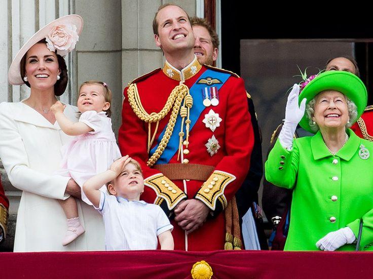 From left Princess Kate, Princess Charlotte, Prince George and Prince William Photo (C) SAMIR HUSSEIN, WIREIMAGE