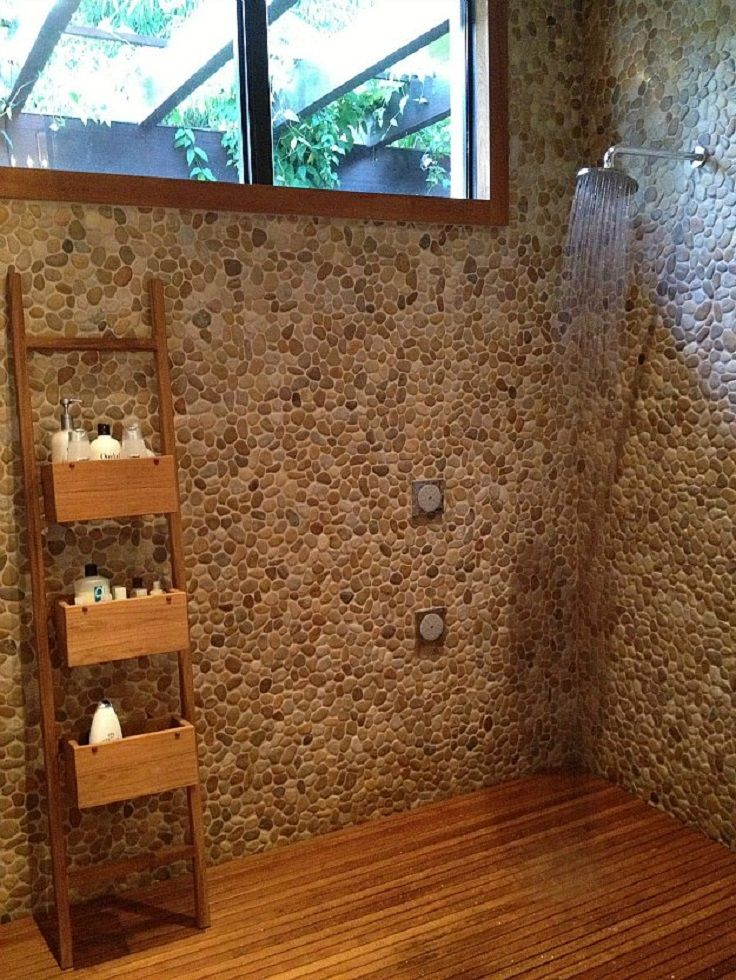 Best River Stone Shower Ideas On Pinterest Pebble Tile - Diy bathroom shower flooring ideas