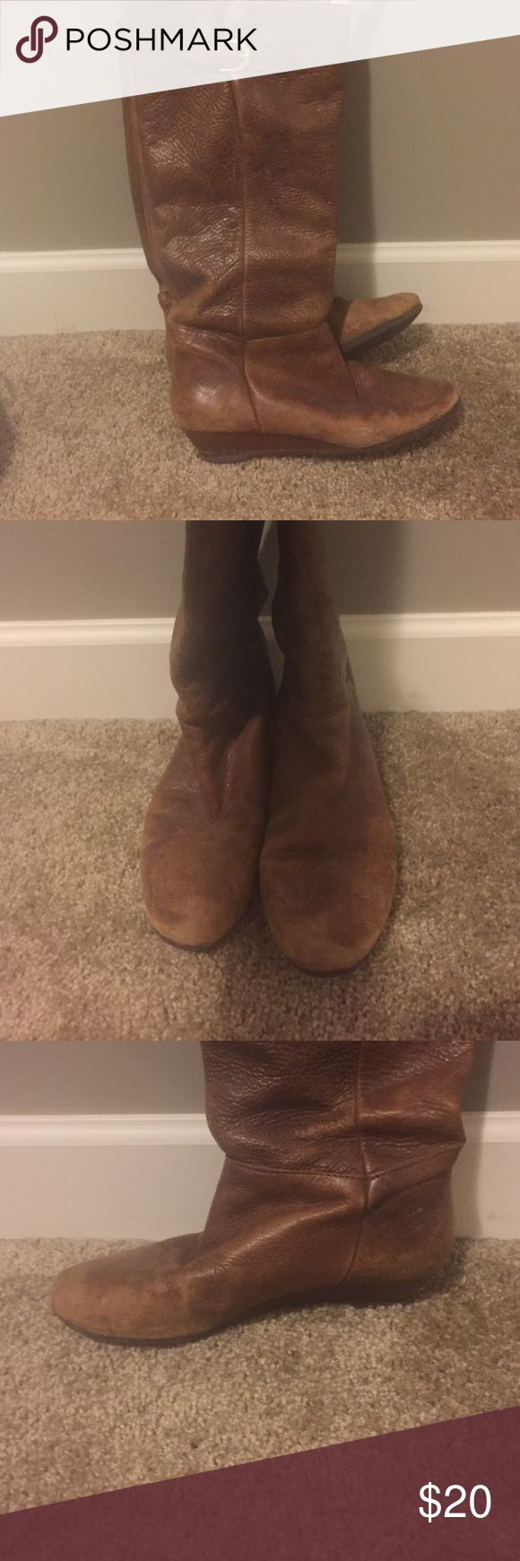 Steve Madden boots Great fall and winter boot. There is some wear and tear but could be easily cleaned up by a cobbler! Steve Madden Shoes Heeled Boots