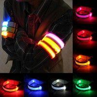 Wish | LED Safety Reflective Belt Strap Arm Band Belt Snap Wrap Armband Running Cycling Sports