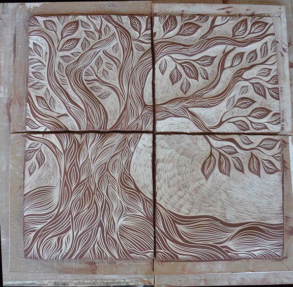 Q Amp A Colors In Ceramic Sgraffito Art Tile Art Ceramic